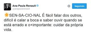 Ana Paula Renault (Foto: reprodução/twitter)