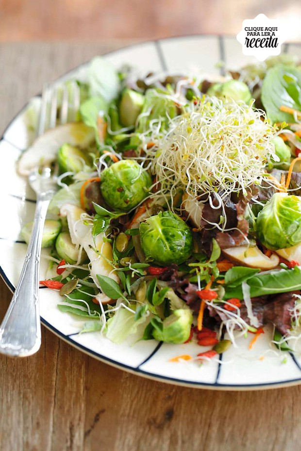 Salada da horta, sugestão da chef Tatiana Cardoso (Foto: Amanda Areias / Editora Globo)