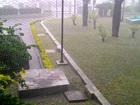 Chove forte na Grande Vitória; raios, granizo e estragos são registrados