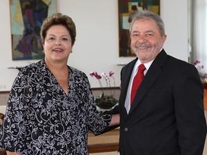O ex-presidente Lula e a presidente Dilma, em reunião nesta segunda (Foto: Ricardo Stuckert / Instituto Lula)