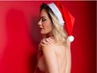 Ju Isen, musa das manifestações, posa de Mamãe Noel sexy