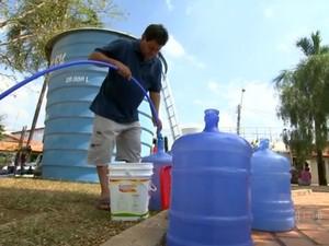 Falta d'água em Itu (Foto: Reprodução/TV TEM)