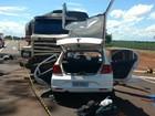 Motorista morre após bater de frente com carreta na BR-452, em Goiatuba