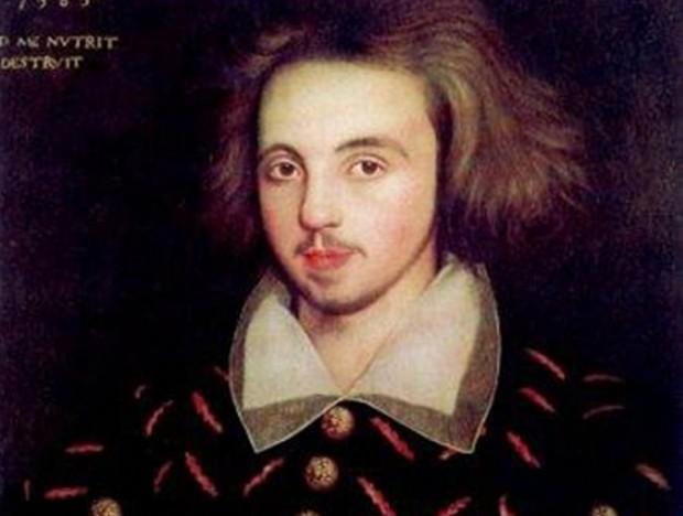 O dramaturgo Christopher Marlowe em pintura que acredita-se ser de 1585 (Foto: Domínio público)