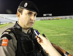Comandante Souza Neto deu detalhes sobre plano de segurança para o Clássico Tradição (Foto: Magnus Menezes / Jornal da Paraíba)
