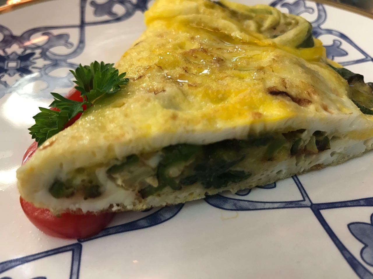Omelete de Quiabo da Amanda Nunes
