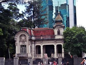 Casarão da avenida Paulista  (Foto: Daniela Pereira do Nascimento/VC no G1 )