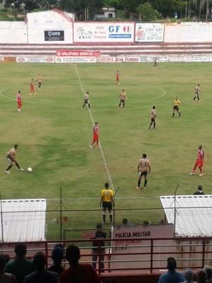 Tricordiano e Patrocinense ficaram no empate em Três Corações (Foto: Marcelo de Castro / EPTV)
