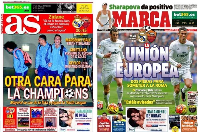 Montagem-capas-de-jornal-Europa (Foto: infoesporte)
