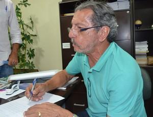 João Máximo, candidato à presidência da FPF, FPF (Foto: Pedro Alves / GloboEsporte.com/pb)