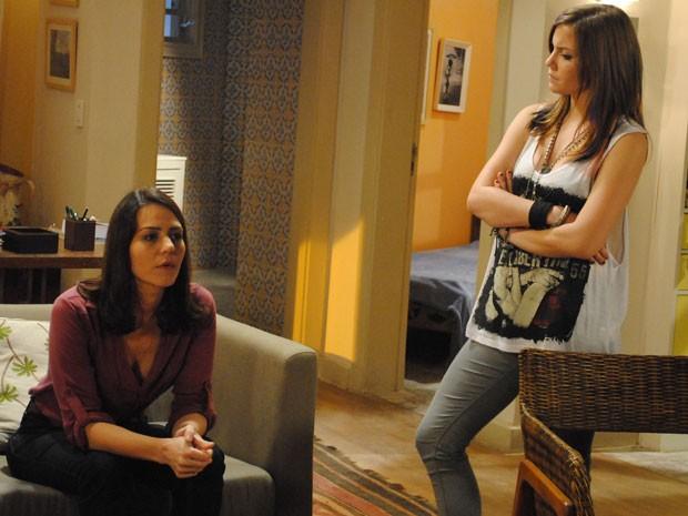 Lia descobre mentira de Raquel e dá dura na mãe (Foto: Malhação / Tv Globo)