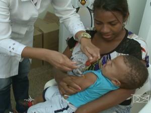 Campanha emergencial de vacinação contra o sarampo começa nesta segunda-feira (24) (Foto: Reprodução/TV Mirante)