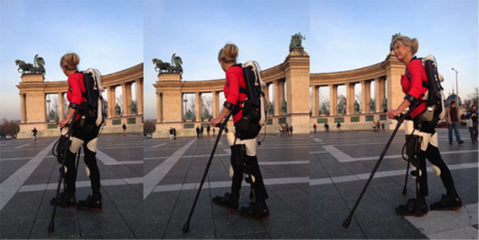 Após 22 anos, mulher volta a andar graças a exoesqueleto feito em impressora 3D. (Foto: Reprodução/CNET)