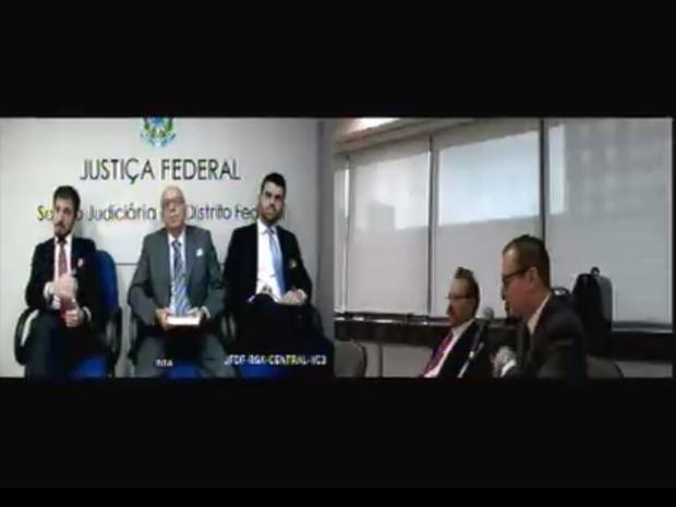 O ex-procurador-geral Cláudio Lemos Fonteles foi o primeiro a ser ouvido na audiência desta quinta-feira (2) (Foto: Reprodução/Justiça Federal do Paraná)