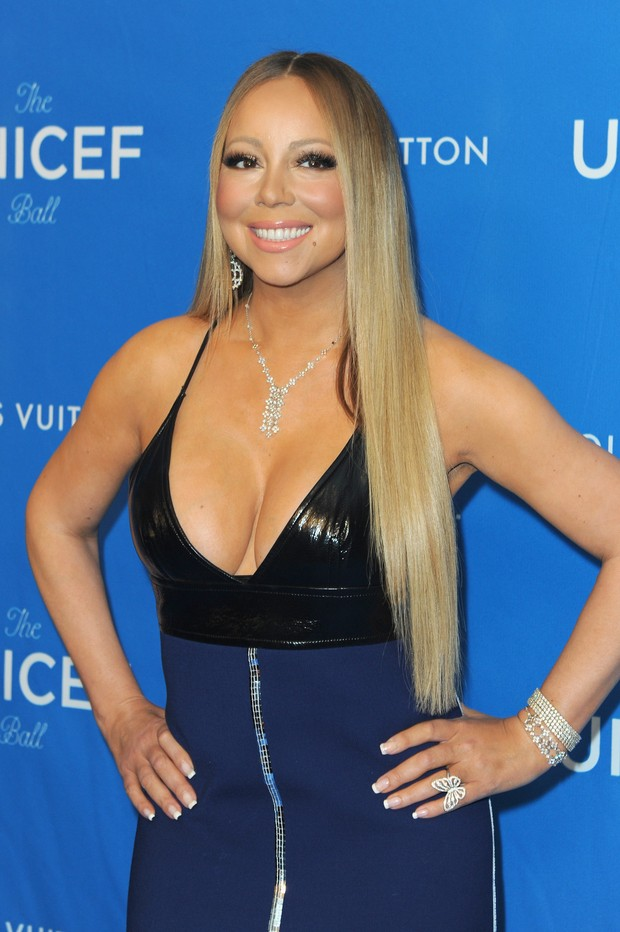 Mariah Carey em evento em Los Angeles, nos Estados Unidos (Foto: Joshua Blanchard/ Getty Images/ AFP)