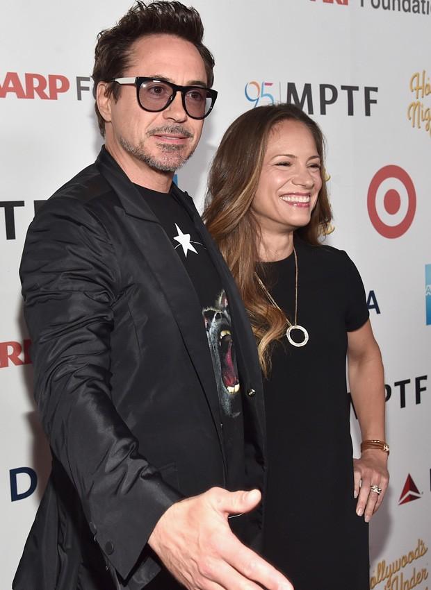 Robert Downey Jr. e a mulher, Susan Downey (Foto: Getty Images)