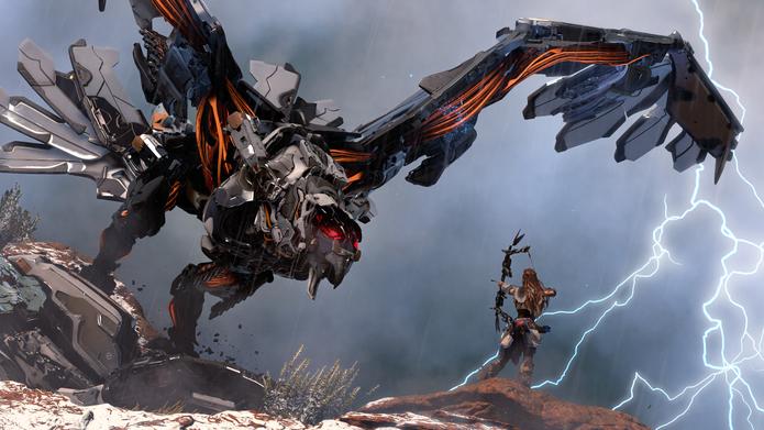 Horizon: Zero Dawn se passa em um futuro dominado por máquinas (Divulgação/Sony)