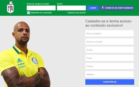 A rede social de Felipe Melo (Foto: Reprodução)