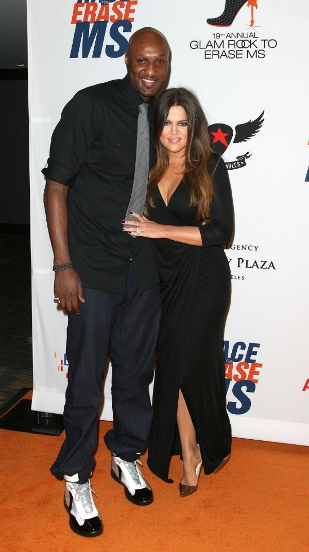 Khloe Kardashian e Lamar Odom durante um evento em 2012 (Foto: Getty Images)