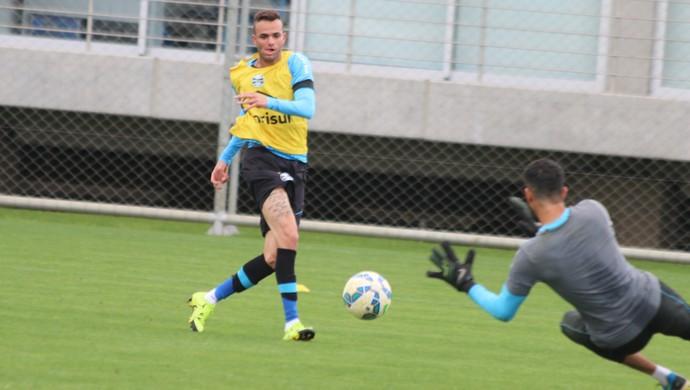 Luan em treino do Grêmio (Foto: Eduardo Moura/GloboEsporte.com)