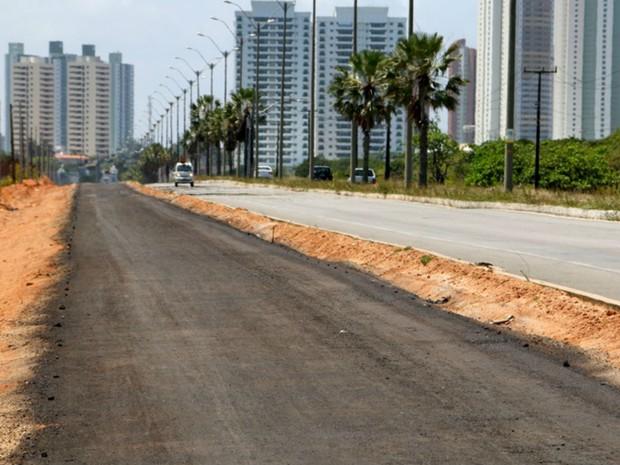 Ciclovia em Natal terá cinco quilômetros de extensão por três metros de largura (Foto: Demis Roussos/Governo do RN)