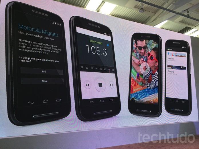 Evento Motorola- lançamento do Moto E (Foto: Allan Melo/ TechTudo)