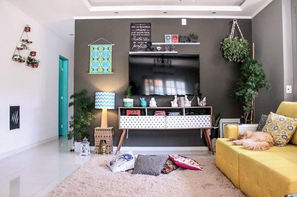 A sala da dupla do @muitacalmanessaobra (Foto: Divulgação)