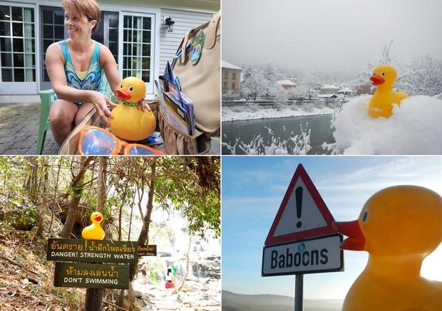 Pato de borracha foi devolvido para família após visitar 20 países (Foto: Reprodução/Facebook/Gale Ducky)