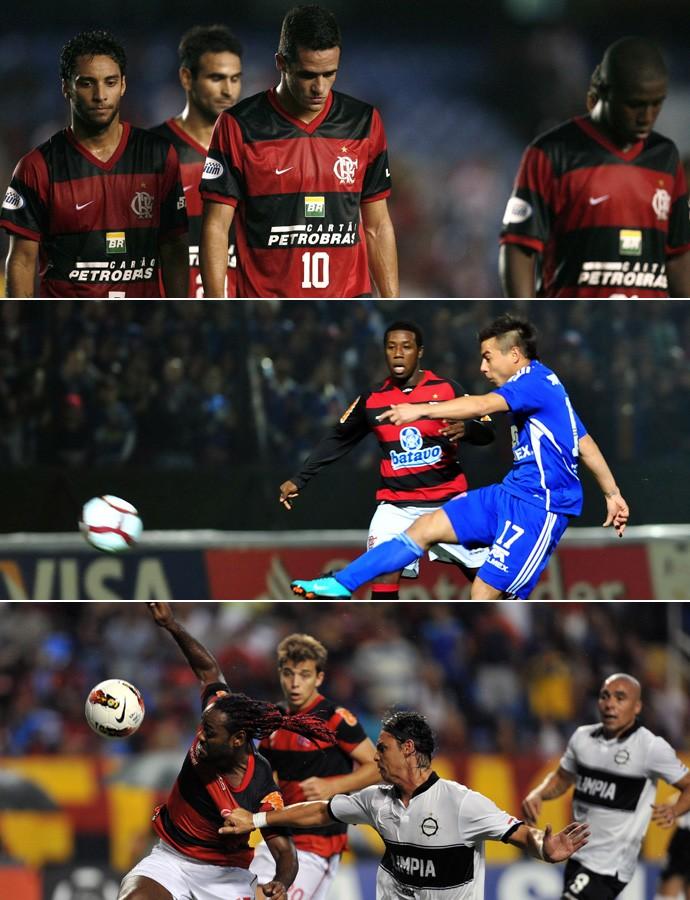 Montagem Flamengo Libertadores (Foto: Editoria de Arte)