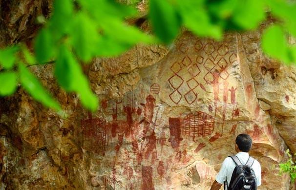 Pinturas rupestres,  formações rochosas e belas paisagens são destaque no programa especial (Foto: Rede Clube)