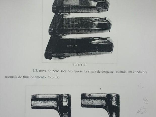 Arma não apresentou defeito, segundo laudo (Foto: Condeph / Divulgação)