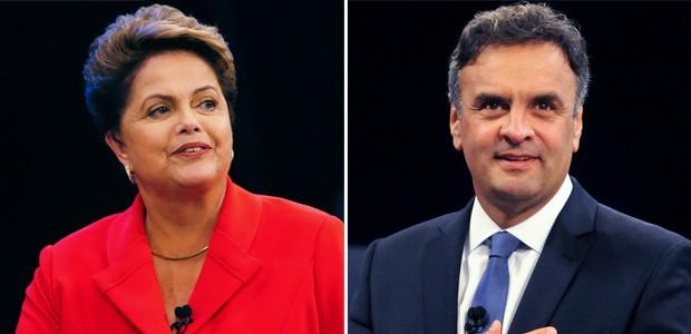 FOTAO NOVO - Debate Dilma e Aécio (Foto: Ricardo Moraes/Reuters e Alexandre Durão/G1)