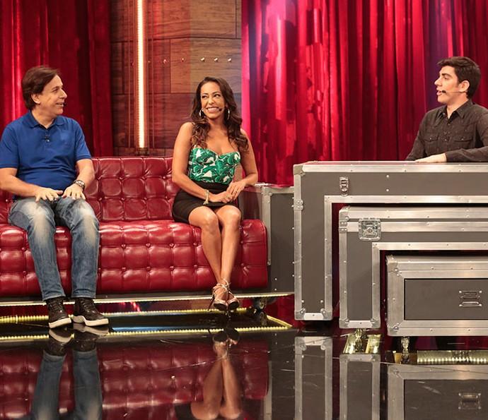 Samantha Schmütz conta que sua primeira participação na TV foi no programa de Tom Cavalcante (Foto: Felipe Monteiro/Gshow)
