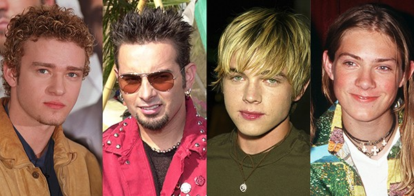 Justin Timberlake, Chris Kirkpatrick, Jesse McCartney, Taylor Hanson (Foto: Getty Images)
