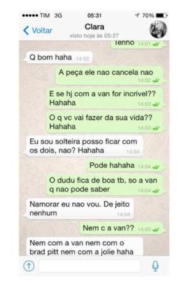 Suposta conversa de Clara (Foto: Divulgação/Divulgação)