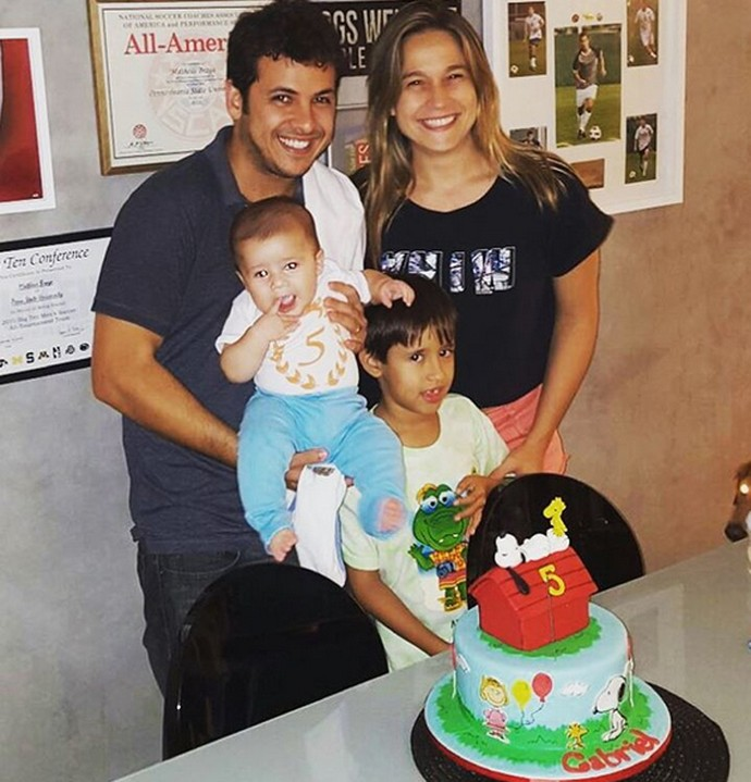 Fernanda com sua família (Foto: Arquivo Pessoal)