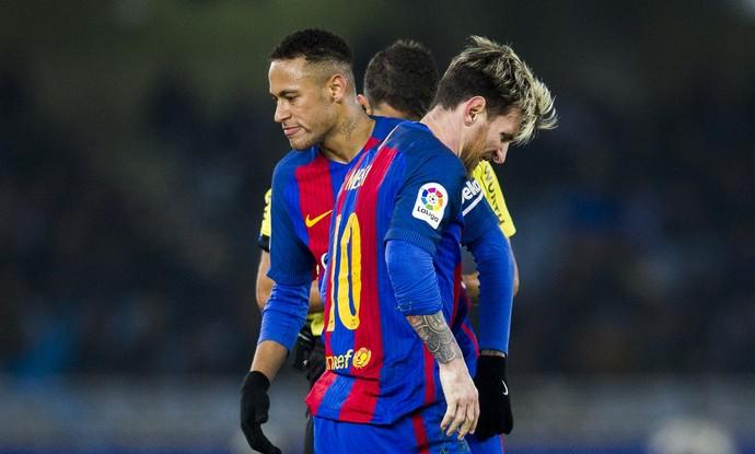 Neymar Messi Barcelona Real Sociedad (Foto: Getty Images)