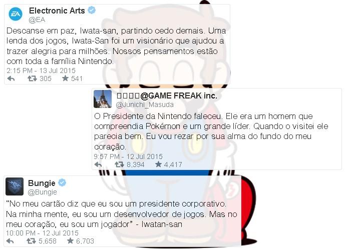 Empresas se manifestaram pelo falecimento de Satoru Iwata, incluindo a Game Freak, produtora de Pokémon (Foto: Reprodução/Rafael Monteiro)