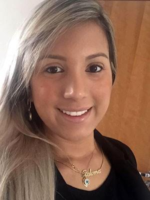 Paloma Gurgel foi vítima de atentado dia 19, em Natal (Foto: Paloma Gurgel/Arquivo Pessoal)