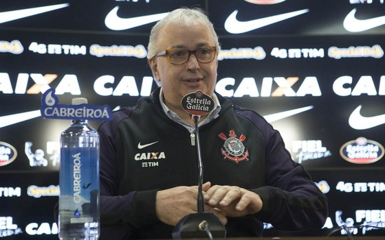 Roberto de Andrade, presidente do Corinthians (Foto: Daniel Augusto Jr.)