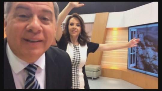 Mario Motta e Laine Valgas convidam para assistir ao novo Jornal do Almoço