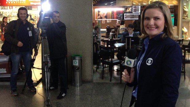 Equipe da RPC TV acompanhou a breve passagem da Austrália por Curitiba (Foto: Divulgação/RPC TV)