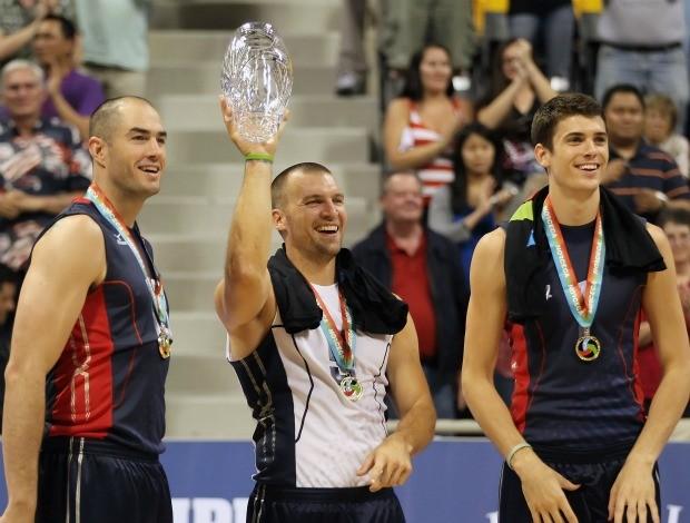 Clayton Stanley, Richard Lambourne e Matthew Anderson, seleção de vôlei dos Estados Unidos (Foto: Getty Images)