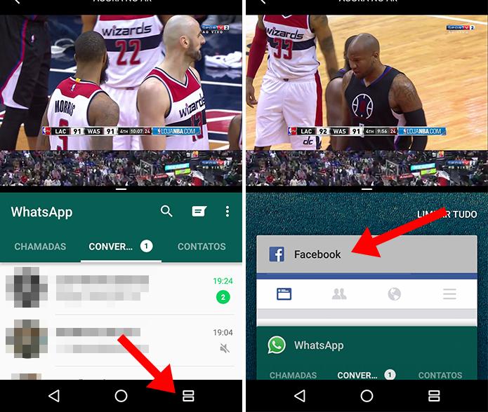 Use dois apps ao mesmo tempo e mude o segundo quando quiser (Foto: Reprodução/Paulo Alves)