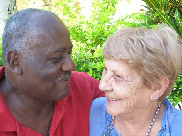 Roque e Edith dizem que se divertem a todo o momento (Foto: Mariane Rossi/G1)
