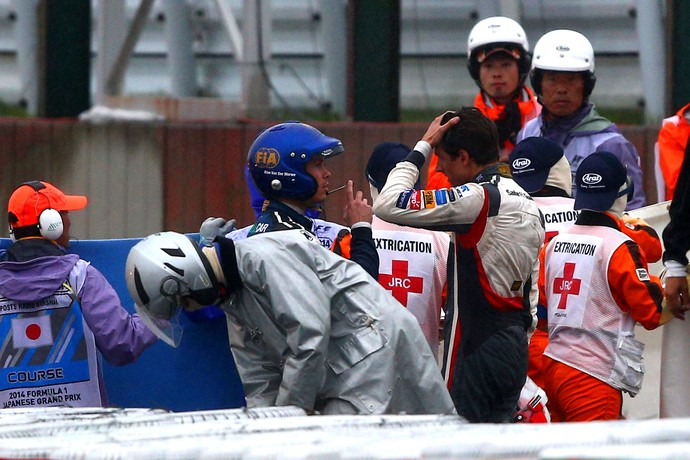 Acidente Bianchi GP Japão Fórmula 1 (Foto: Getty Images)