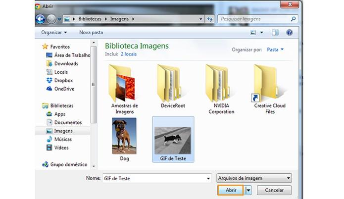 Encontre o GIF no computador (Foto: Reprodução/Barbara Mannara)
