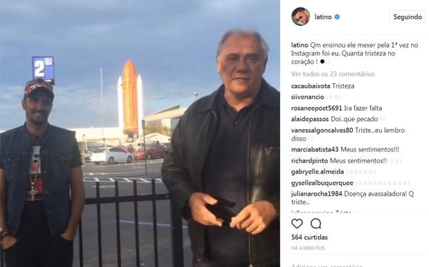 Latino lamenta morte de Marcelo Rezende (Foto: Reprodução/Instagram)