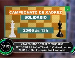 Campeonato de Xadrez Solidário (Foto: Divulgação)