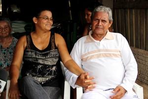 Francisca Marieta e Luiz de Freitas, o Lô, casados há 27 anos (Foto: João Paulo Maia)